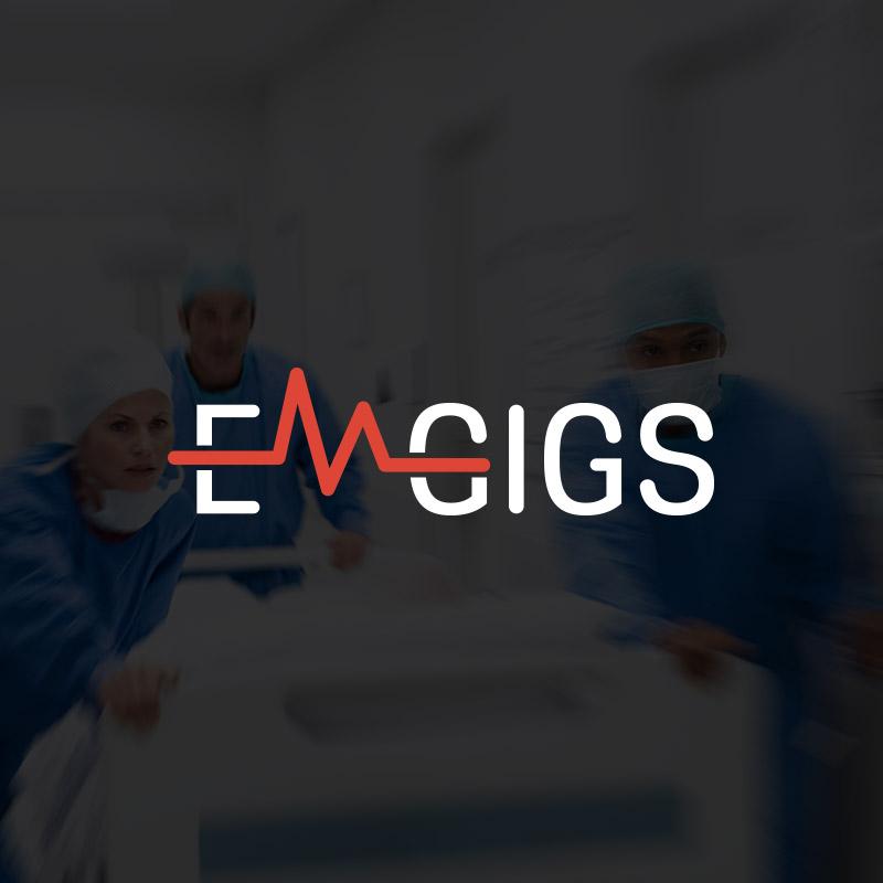 EMGigs.com Website design by Big Red Design Co.
